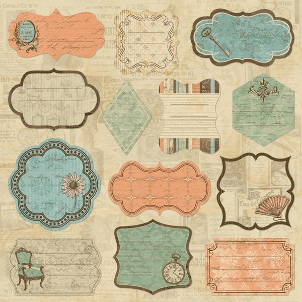"Grandma's Attic Self-Adhesive Fabric Sheet 12""X12"""