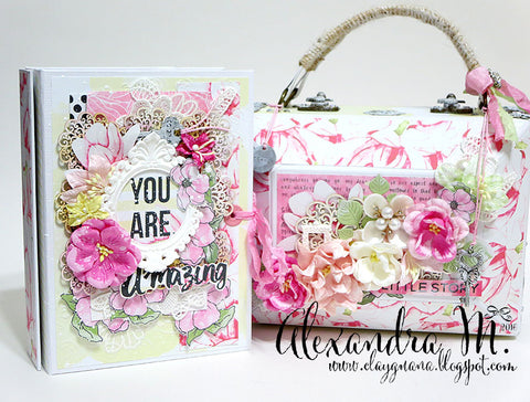 Magnolia Sky sliding mini album in a Case - Alexandra Morein