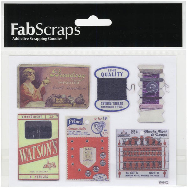 "Fab Scraps Oh! Sew Beautiful Clear Stickers 4""X5"