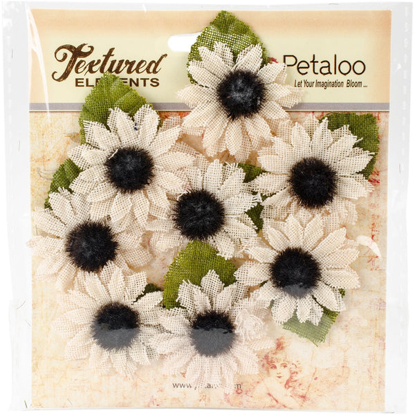 Petaloo Textured Elements Canvas mini sunflower - Ivory