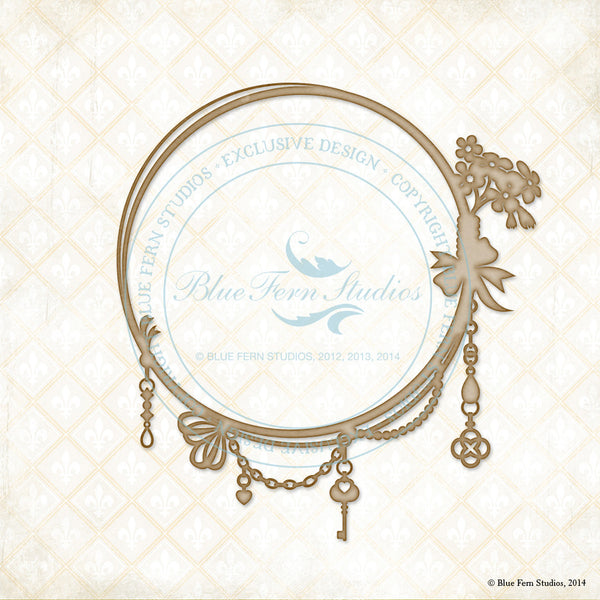 Blue Fern Studios Laser  Cut Chipboard - Jeweled Frame