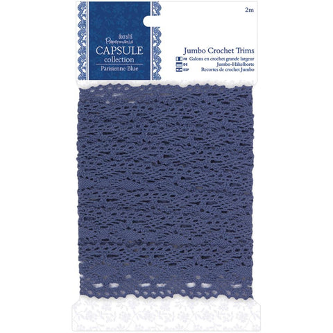 Papermania Parisienne Blue Jumbo Crochet Trim
