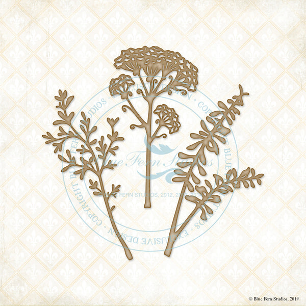 Blue Fern Studios Laser  Cut Chipboard - Layering Stems
