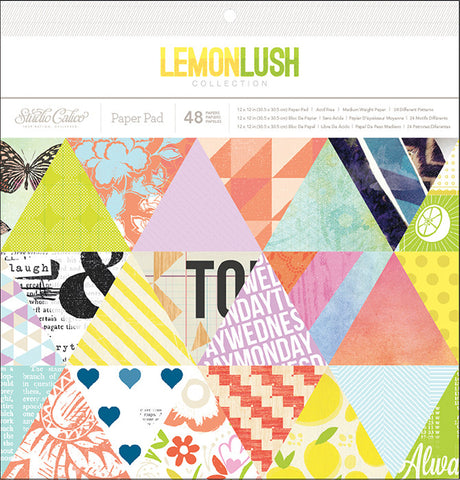 Studio Calico - Lemon lush Paper Collection - 12x12 Paper Pad