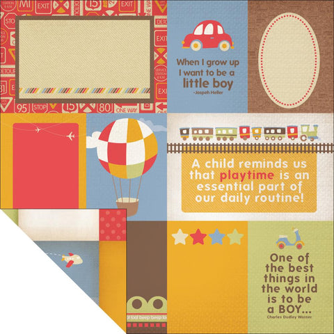 KAISERCRAFT-Little toot Double sided paper - Bumper