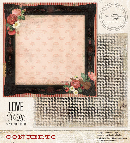 Blue Fern Studios Paper Collection - Love Story - Concerto