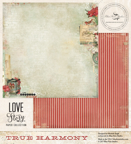 Blue Fern Studios Paper Collection - Love Story - True Harmony