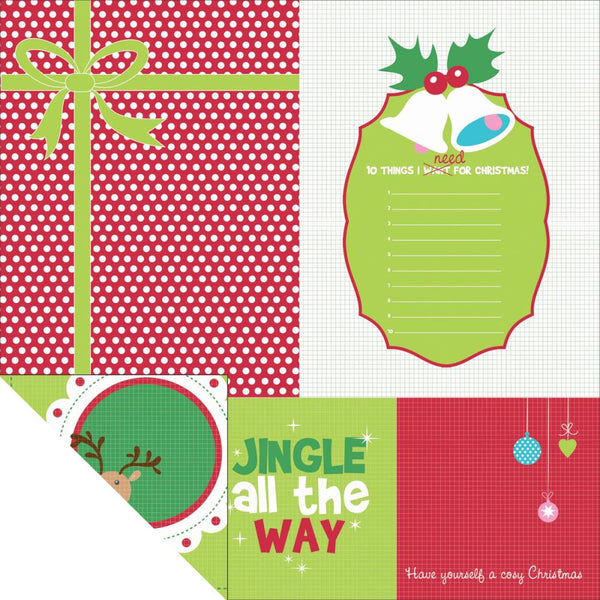 KAISERCRAFT-Mint Twist Collection Double sided paper - HOHOHO