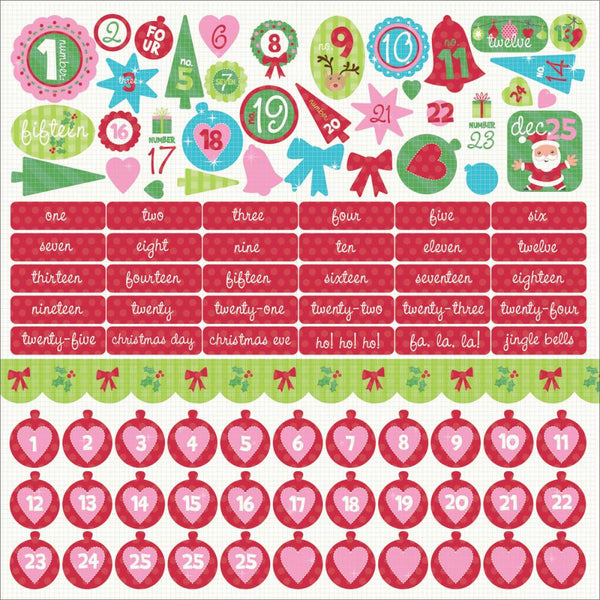 KAISERCRAFT-Mint Twist Collection Cardstock Stickers