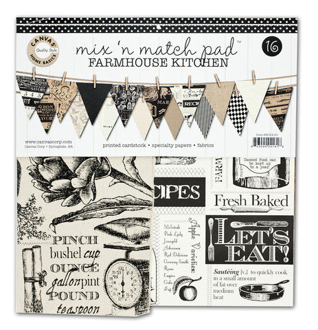 Canvas Corp Papers - Mix and Match Pad - Farm Kitchen