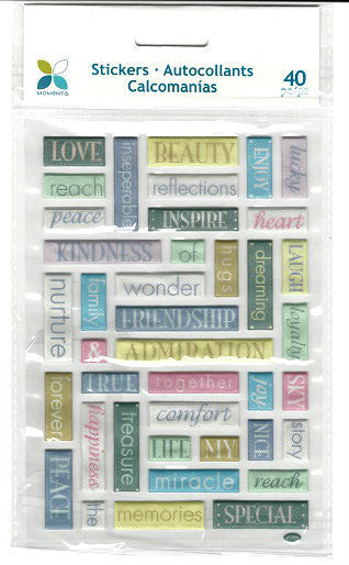 Momenta -  Tranquil  - Puffy Word Stickers