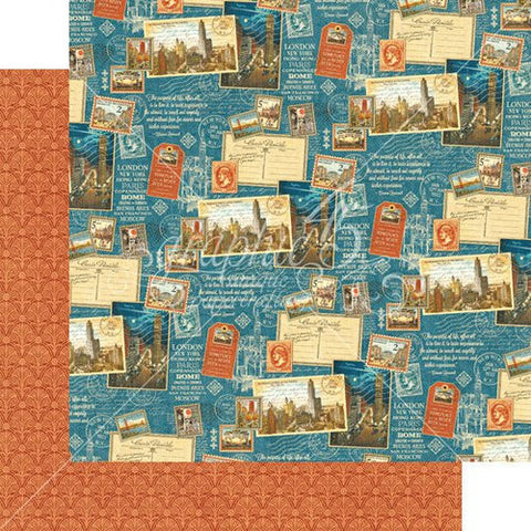 Graphic45  CityScape - Passport to the World paper