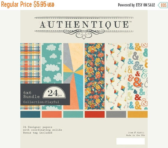 Authentique - Playful - 6x6 Pad