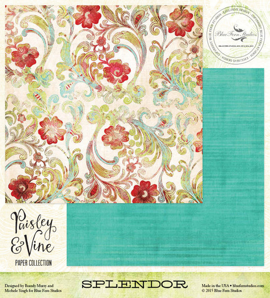 Blue Fern Studios Paper Collection - Paisley & Vine - Splendor