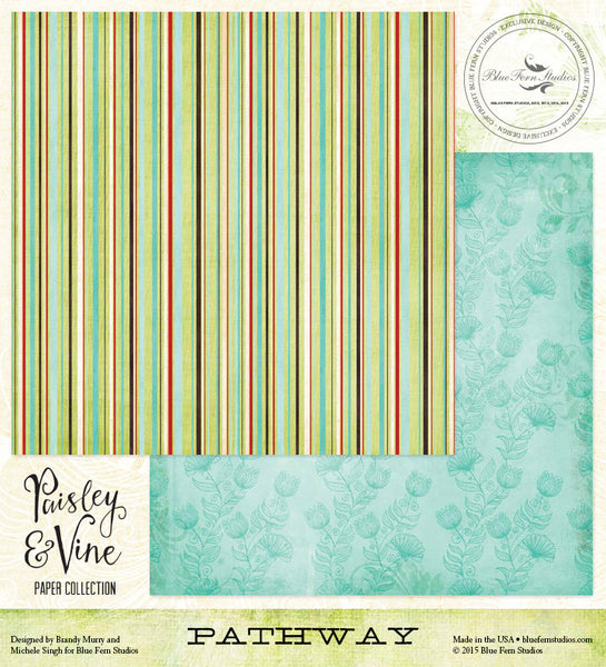 Blue Fern Studios Paper Collection - Paisley & Vine - Pathway