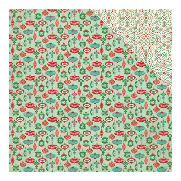Authentique - Retro Christmas Double-Sided paper Five