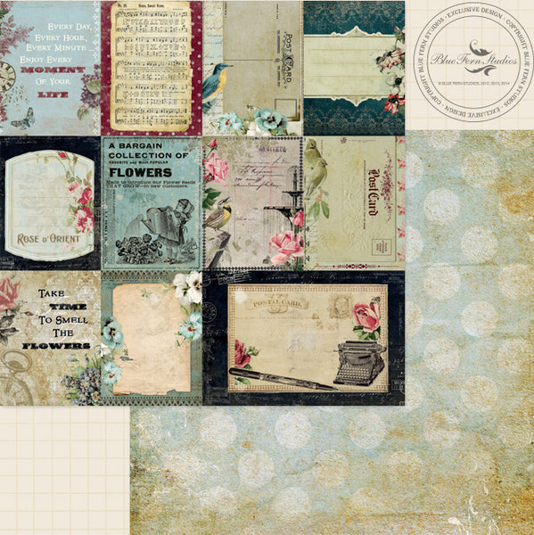 Blue Fern Studios Paper Collection - Sanctuary -  Calling Card