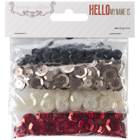 Teresa Collins Hello My Name is Sequins, 4 Colors