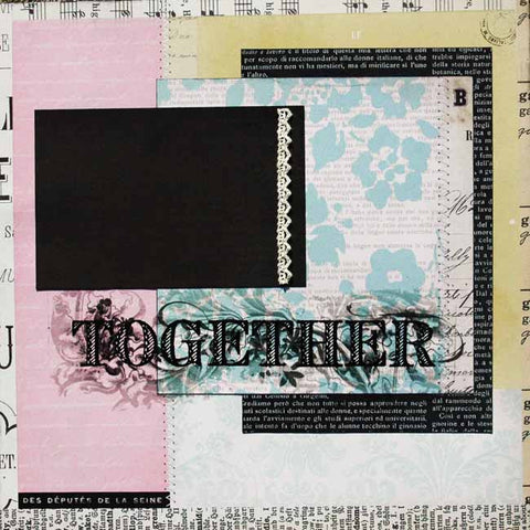 Dee Walker - Together in Vintage Pastels Layout Kit