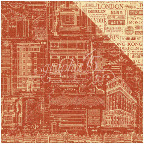Graphic45  CityScape - Street of Dreams paper