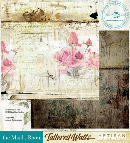 Blue Fern Studio Paper - Tattered Walls - The Maids Room