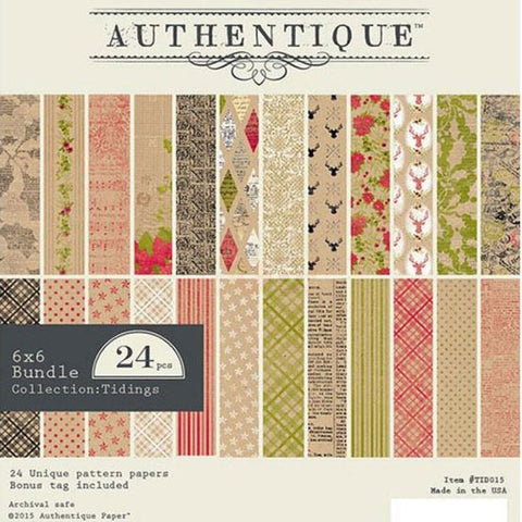 Authentique - Tidings - 6x6 Pad