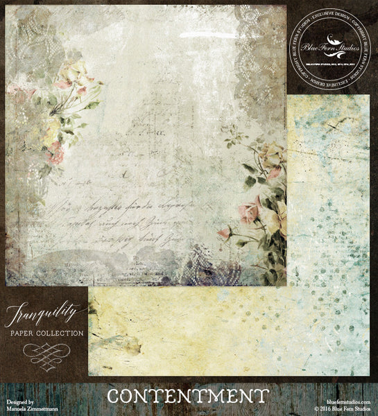 Blue Fern Studios Paper Collection - Tranquility-  Contentment