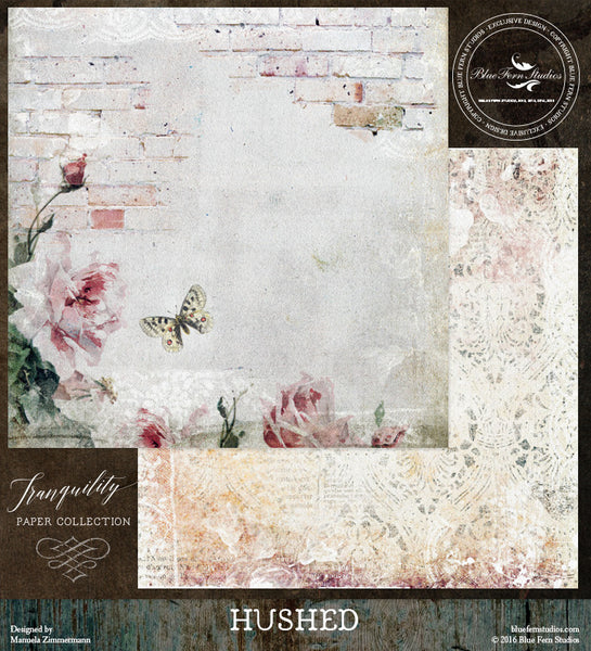 Blue Fern Studios Paper Collection - Tranquility-  Hushed