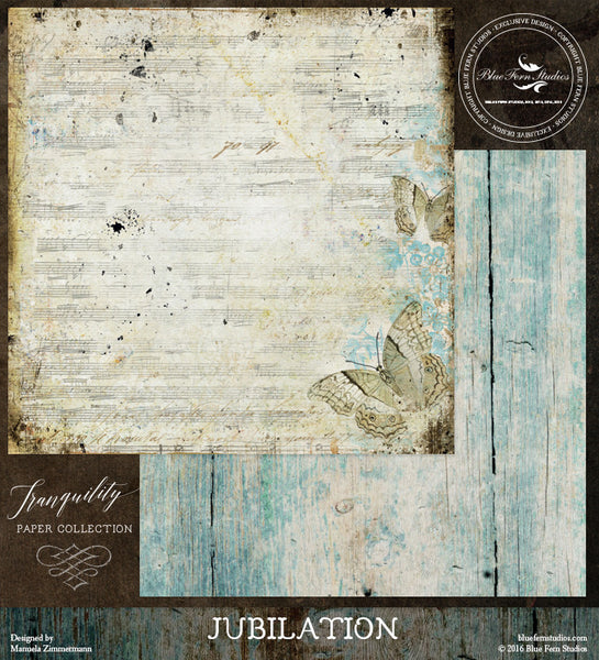Blue Fern Studios Paper Collection - Tranquility-  Jubilation