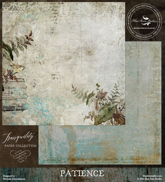 Blue Fern Studios Paper Collection - Tranquility-  Patience