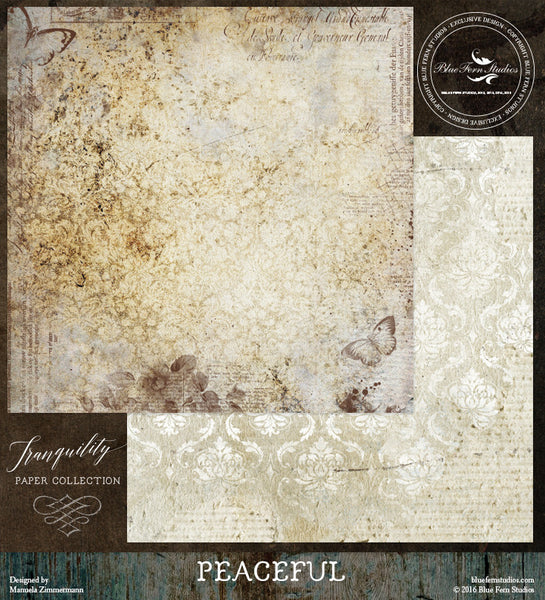 Blue Fern Studios Paper Collection - Tranquility-  Peaceful