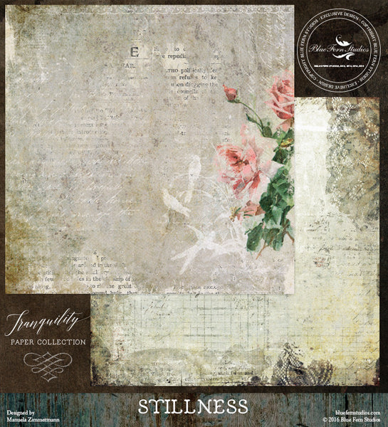 Blue Fern Studios Paper Collection - Tranquility-  Stillness
