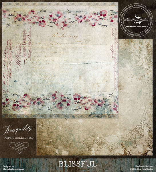 Blue Fern Studios Paper Collection - Tranquility-  Blissful