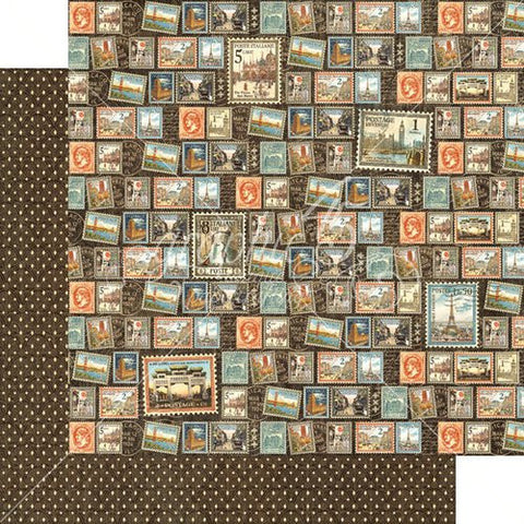 Graphic45  CityScape - Well Traveled paper