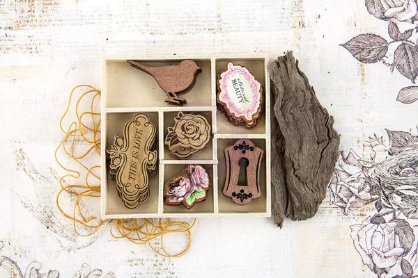 Prima - Garden Fable - Wood Icons Embellishments