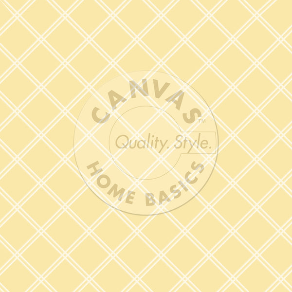 Canvas Corp - Yellow and Ivory Lattice Paper