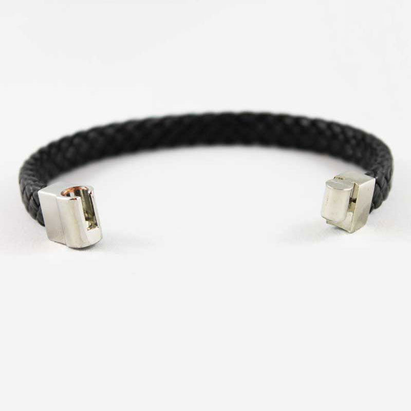 Black Braided Magnetic Bracelet