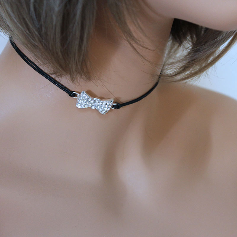 Sparkly Bow Choker