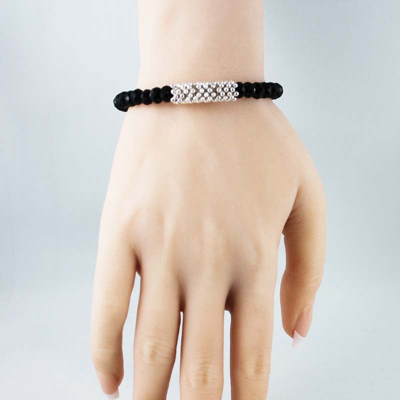 Black Sparkle Bangle Bracelet