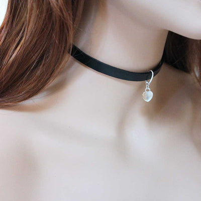 Genuine Black Leather Collar