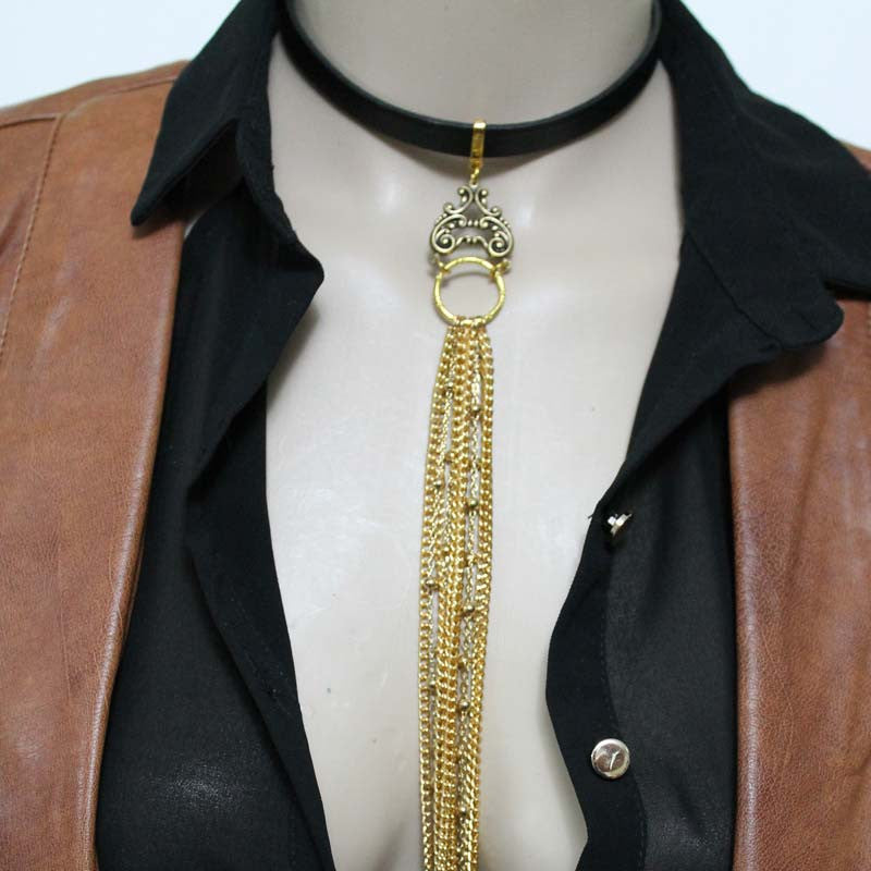 Extra Long Tie Necklace