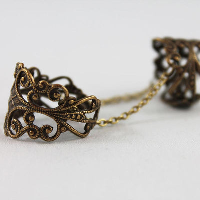 Brass Double Filigree Ring