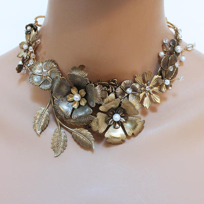 Flower Statement Necklace