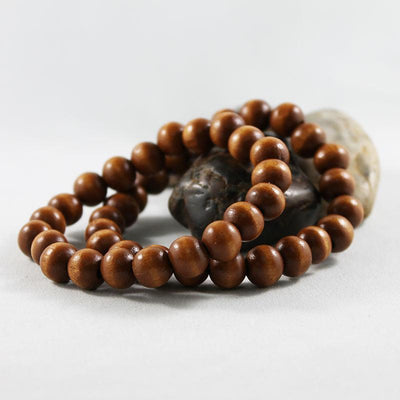 Brown Wood Bead Bracelets