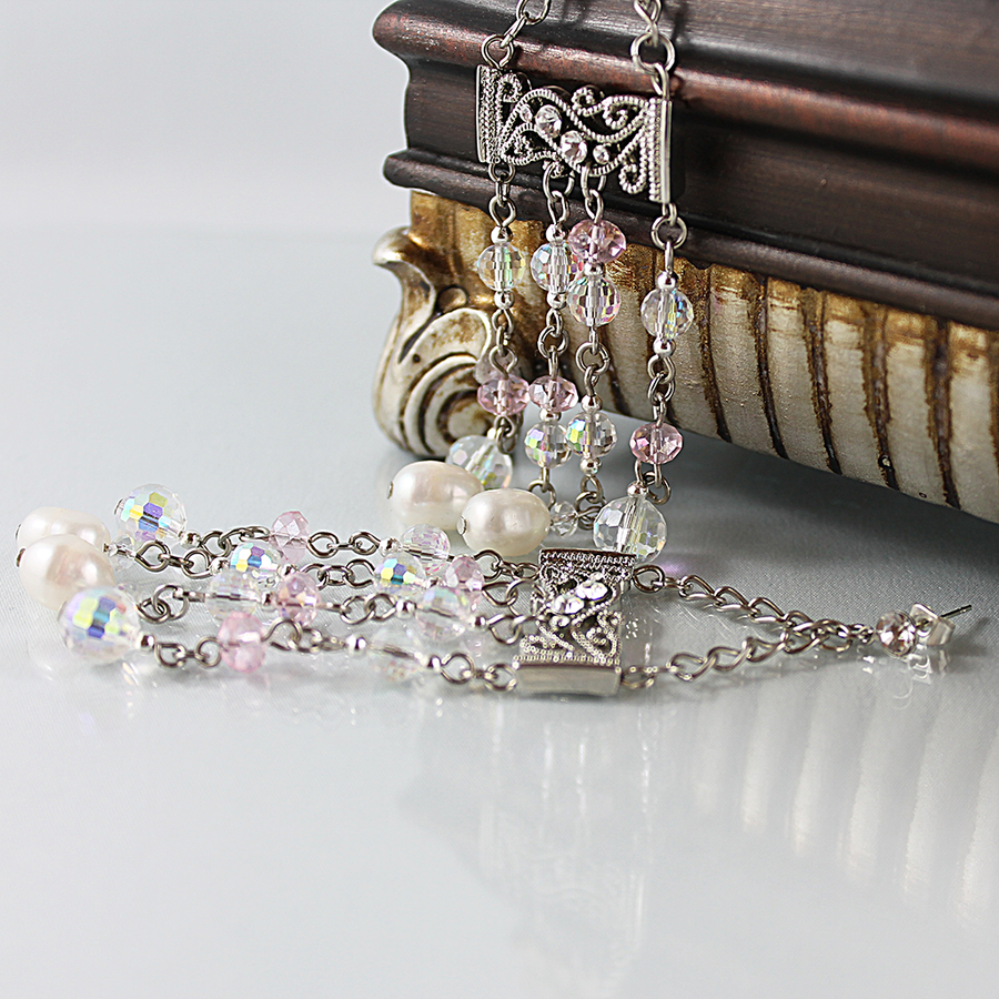 Long Victorian Edwardian Bridal Earrings