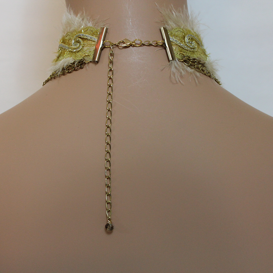Gold Statement Cross Choker