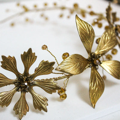 Gold Flower Headpiece or Necklace