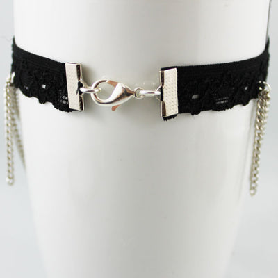 Black Lace Swag Chain Cross Armlet