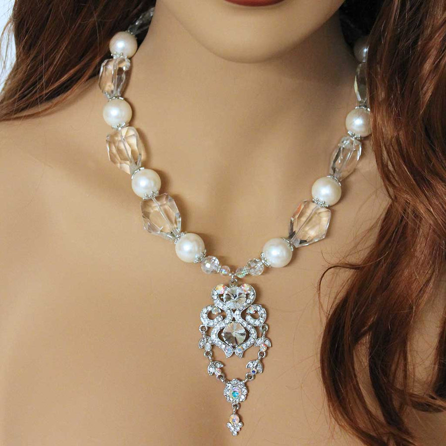 Chunky Pearl Bridal Statement Necklace