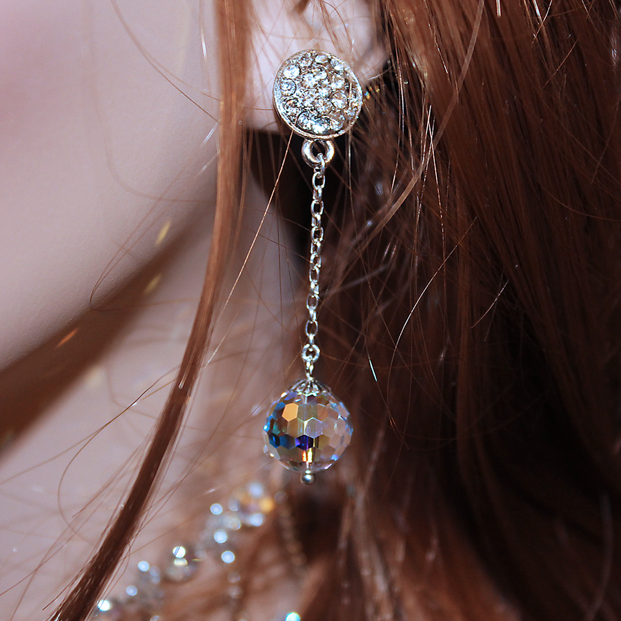 Long Elegant Bridal Earrings